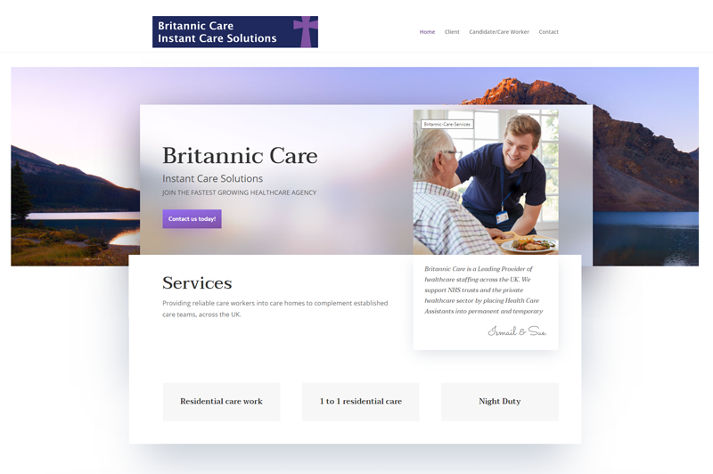 Britannic-Care-Web-Design